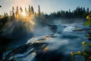 Водопад Ристафаллет